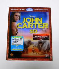 Disney Sci-Fi Masterpiece John Carter of Mars 4 Disc 3D Blu-ray DVD Digital Copy