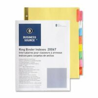 """Business Source Insertable Tab Divider - 8 Tab[s]/set - 8.50"""" X 11"""" - 8 / Set -"""