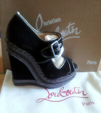 CHRISTIAN LOUBOUTIN WEDGE EU 38 / US 6.5 DARK GREY