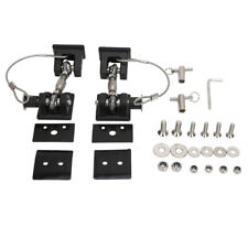 Pair Black Locking Hood Latch Catch With Key Pin Kit For Jeep Wrangler JK 07-17