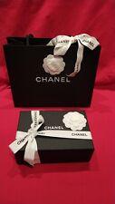Boite Chanel Vide Neuve 20,5x13,5x7,5 Sac 2 Camelias Ruban Carte Papier De Soie
