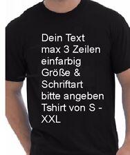 T-Shirt mit Text nach Wunsch bedruckt Grösse S-XXXL Wunschtext Abi Shirt Motiv