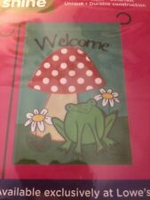 """New listing Small Spring Frog Garden Flag 12.5"""" X 18"""" New"""