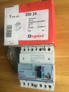 LEGRAND 16A DPX125 25024 CIRCUIT BREAKER MOULDED INDUSTRIAL 4 POLE MCB RCD RCCB