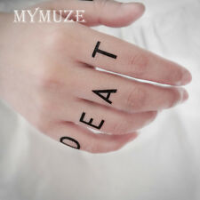 One Piece Trafalgar Law Cosplay Tattoo Sticker Death Surgeon Finger Tatoo