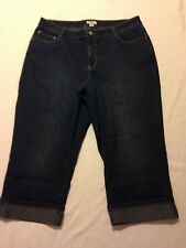 Cato Skimmer Cuffed Blue Jeans women's size 18W (waist 38 inseam 22)