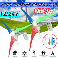 1500W Max Power Dc12/24v 3-Blade Wind Turbine Generator Charge Controller