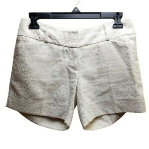 The Limited Women's Size 0 Jacquard Faux Eyelet Dress Shorts Cotton Blend Twill