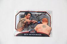 BEN HENDERSON SIGNED 2011 TOPPS UFC FINEST REFRACTOR /388 AUTOGRAPH AUTO BENSON
