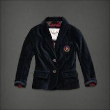 Abercrombie & Fitch Outerwear Navy Velvet GEMMA Blazer Jacket size SMALL