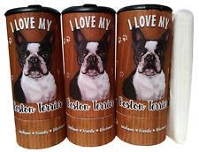 I Love my Boston Terrier(85004) Refillable Tissue Tube with 1 Refill package
