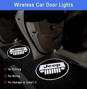 Logo Wireless LED Courtesy Car Door Ghost Shadow Projector Light Fit All Jeep