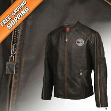 Men Leather Medium Weight Jacket (1953-1962 C1 Corvette) Extra Long -Extra Large