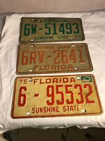 Vintage Florida License Plate 1973 1974 1975 Palm Beach County Tag