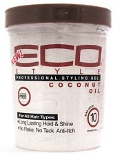 Eco Styler Coconut Styling Gel High Hold No Flake No Tack Anti-Itch 100%25 Coconut