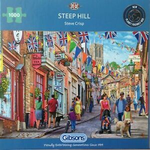 Brand New Gibsons 1000 Piece Jigsaw Puzzle - STEEP HILL