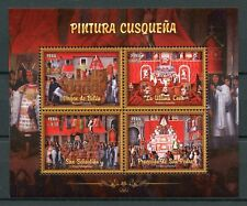 Peru 2017 MNH Cuzco Paintings Cusco School 4v M/S Art Stamps