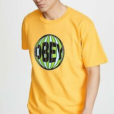 OBEY Men's S/S Classic Box T-Shirt BALL - Gold - Medium - NWT