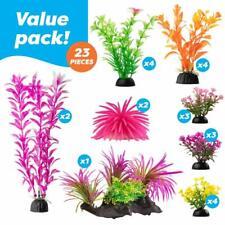 23 Pcs Color Realistic Decorative Aquarium Fish Tank Ornament Plastic Plants