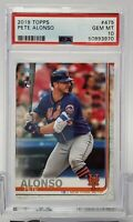 2019 Topps PETE ALONSO RC/ROOKIE METS #475 PSA 10 GEM MINT