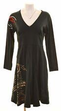 DESIGUAL Womens A-Line Dress Size 18 XL Black Cotton  JQ02