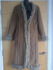 Lovely Ladies Fake Fur Afghan Style Coat Size 10