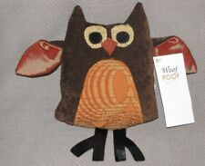 "WOOF AND & POOF STUFFED PLUSH AUTUMN 2013 OWL BIRD DECOR 7"" 9"" NWT 2013"