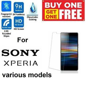 2 Pack Tempered Glass Screen Protector For Sony Xperia 5 L1 L2 L3 L4 XA1 XA2 XZ