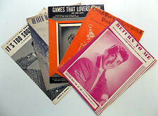 Lot Of 5 Traditional Pop Male Vocalists Sheet Music Various Publ. Pat Boone etc