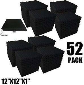 paneles esponjas acusticos espuma para estudio paredes 52 Pack a prueba sonido