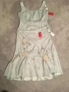 Designer Cami And Skirt 14 Pale Blue Green silk BNWT