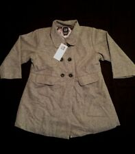 NWT babyGap Girls Gray Grey Quality 70% Wool Jacket Coat Size 18-24 M