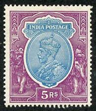 India SG216 5r Ultramarine and Blue m/m