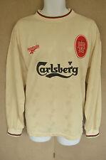 EX CON. Liverpool cream away shirt, long sleeved 1996/1997 season FOWLER