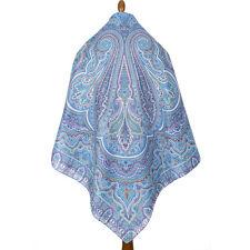 1566-13 AUTHENTIC PAVLOVO POSAD SHAWL RUSSIAN SCARF 100% COTTON DRESS WRAP 146cm