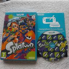 SPLATOON NINTENDO Wii U V.G.C. FAST POST ( shooter game & complete )
