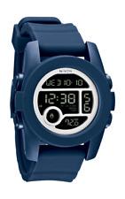 Nixon The Unit Digital Blue Silicone Strap Mens Watch A490-307