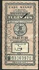 USA 1944 ILLINOIS 24 BOTTLES 12 OUNCE EACH BEER TAX STAMP