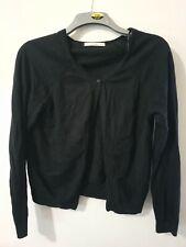 George 100% Cotton Black Long Sleeve Cardigan Size 14