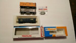 Walthers/RoCo HO Train Lot of 3 Track Cleaning 40' Boxcars w/ New Pad