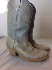 Texas Vintage Two Tone Gray 8 1/2 D Men's Western Boots Cowboy
