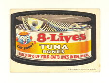 1973 TOPPS WACKY PACKAGES 8 LIVES TUNA BONES 2ND SERIES 2 WHITE BACK VG-EX (499)