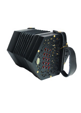 30-button Anglo Phoenix Concertina Accordion w/ Shock Proof Hard Case