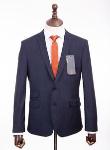 Ben Sherman Super Slim Fit Suit Navy Blue Camden 42R W36 L31