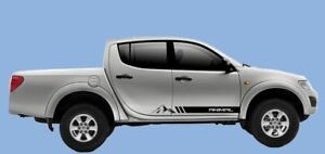 Mitsubishi L200 Animal Mountain side stripes graphics set stickers decals 4x4