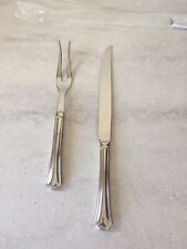 NOS  Reed & Barton  ARLINGTON NEWTON  Stainless Roast Carving Knife Fork Set NEW