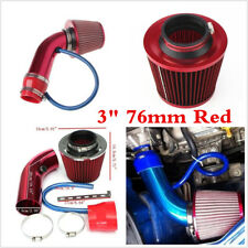 "Universal 3""76mm Car Cold Air Intake Induction Air Filter Pipe Hose Kit Alumimum"