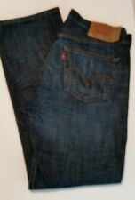 Mens Levis 501 Button Fly Straight Leg Size 33 X 32 Jeans