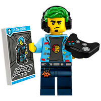 Genuine Minifigures Series 19 (71025) Video Gamer Champ With Base