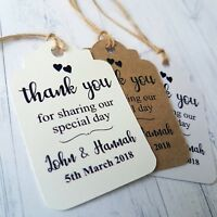 Personalised Wedding Gift Tags With Love Favour Labels With Twine TGS 235